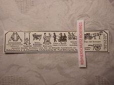 alte Werbung Reklame Anzeige Holz Flemming Rittersgrün Handwagen Wagen ... 1913