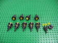 Lot 10 LEGO Black Torch w/Trans-Yellow Round Pirate 6277 6285 6280 6291 #2566