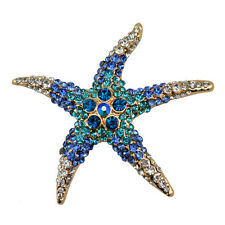 Starfish Brooch Pin W Swarovski Crystals Jewelry Ornaments Gift