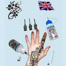 2x Mehndi Henna Temporary Tattoo Applicator Bottle Card Clay Cake Decorating