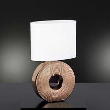 Honsel Tischleuchte Eye 1-flg Schirm Weiß Bronze Schalter Nachttisch Lampe
