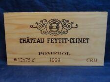 1999 CHATEAU  FEYTIT CLINET POMEROL   WOOD WINE PANEL