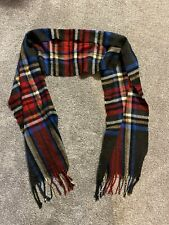 Mens/womens Grey Red And Blue Tartan Check Scarf