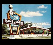 Burger Chef Diner PHOTO Vintage Restaurant Ad Sign Burger Joint 1960s