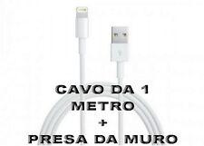Mini Carica Batteria Usb da Muro Bianco Per Iphone 6S Plus 5C 5S iPod Cavo 1 Mt