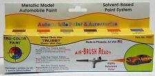 Metallic Model Automobile Paint Set (6) 1 Oz Tru-Color Air Brushable Tsp10201