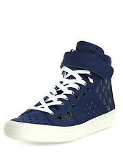 BNIB Pierre Hardy Perforated Leather Hi High Top Sneaker Trainers UK8 EU42