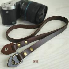 Handmade Genuine Leather Camera Shoulder Neck Strap for Olympus Nikon DSLR Leica
