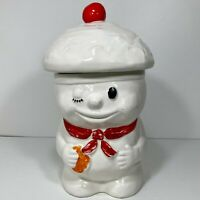 Vintage Ceramic Pillsbury Cookie Jar Winking Chef Hat Dough Boy Bobby Baker Rare