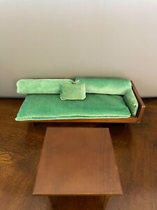 1958 Mattel Barbie Wood Couch & Bed Combo & Table - EX Condition
