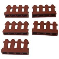 LEGO New Lot of 2 Reddish Brown 2x2 Square Bar Plate Pieces