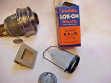 ALADDIN LAMP MODEL 12 BURNER & WICK NICKLE FINISH W/ NOS MANTLE / WICK TRIMMER