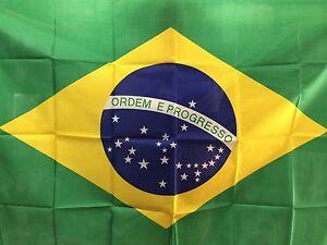 BANDERA NACIONA DE BRAZIL 150x90cm - BANDERA NACIONAL DE BRAZIL 90 x 150 cm