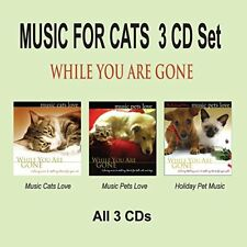 MUSIC FOR CATS 3 CD Set - Cat Music & Pet Music While You Are Gone NEW UNOPENED!