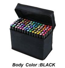 Graphic Art Twin Tip Marker Pen 80 Colors Set Fine & Broad Tip Gift General