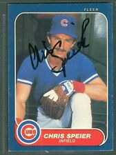 Chris Speier Baseball Auto 1986 Fleer '86 Signature Autograph Signed Card #382