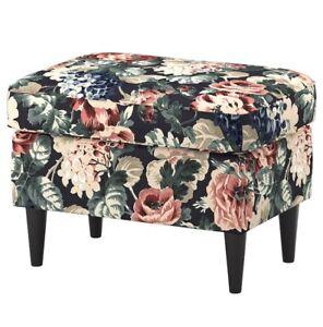 IKEA Strandmon Hocker in Lingbo bunt 304.139.66 Blumenmuster NEU OVP