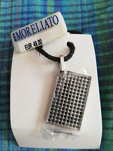 Collana morellato gioielli SAB01, Pendente In Acciaio Cristalli Neri, Corda nera