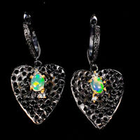 Fine art Jewelry Set Natural Opal 925 Sterling Silver Earrings /E37816