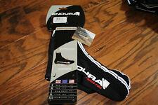 Endura FS260-Pro Lycra Overshoe Black Size Large NWT Cycling Overshoes