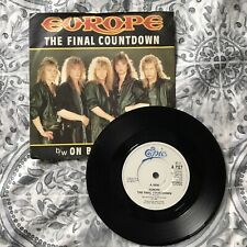Europe The Final Countdown / On Broken Wings Ex+ 1986 Single. Vinyl On Epic A1.