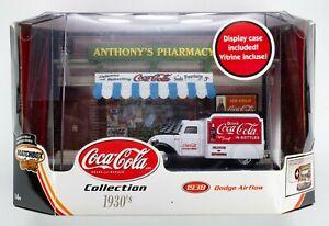 2003 Matchbox Collectibles Coca-Cola Diorama w/ 1938 Dodge Airflow WHITE / BLACK