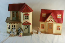 Calico Critters Lot Luxury Townhome Cozy Cottage and 5 Critters