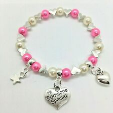 SOMEONE SPECIAL charm bracelet birthday gift bag/tag, 30+ COLOUR CHOICE