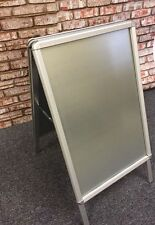 FREE STANDING SHOP RETAIL DISPLAY 'A' BOARD ADVERTISING SIGN SNAP POSTER FRAME