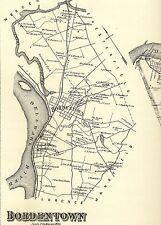 Bordentown Florence Fieldsboro NJ 1876  Maps with Homeowners Names Shown