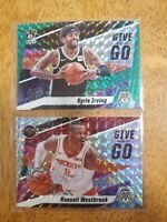 2019-20 Panini Mosaic Green Prizm Give and Go Kyrie Irving + Russell Westbrook