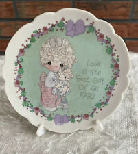 Precious Moments 1992 Porcelain Mini Plate with Easel Love is Best Gift of All