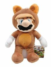 "NEW 1270 Nintendo Super Mario Bros 9"" Tanooki Mario Stuffed Plush Toy Doll"