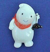 Hallmark PIN Halloween Vintage GHOST with SPIDER Holiday Brooch