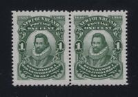Newfoundland Sc #87iv/xi (1910) Pair w/NFW and JAMRS FLAW VF NH