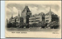 BOMBAY Mumbai Indien India Vintage Postcard ~1900 Gericht High Court (Clifton)