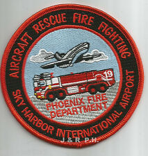 "Airport - Sky Harbor Int'l. Airport, Phoenix, AZ  (4"" round size) fire patch"
