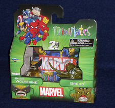 Marvel MiniMates 47 BROOD WOLVERINE (Variant) & BROOD Action Figure 2 PK X-Men