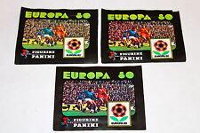 Panini EM Euro EUROPA 80 1980 – 3 x TÜTE PACKET BUSTINA SOBRE POCHETTE MINT!