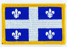 Ecusson Brodé PATCH drapeau QUEBEC  CANADA FLAG PATCH EMBROIDERED