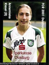 Annemieke Kiesel FCR Duisburg TOP AK Original Signiert +A50650