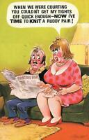 RUDE RISQUE COMIC BAMFORTH WIFE COMPLAINS HUSBAND NOT INTERESTED POSTCARD - USED
