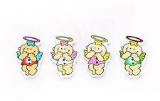 Baby Angel Wooden Button Children Baby Wood Large Red Pink White Green 20pcs