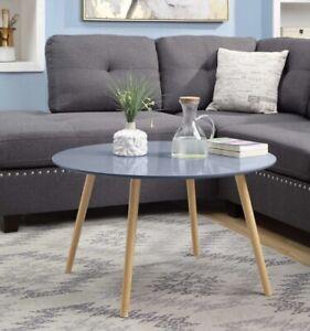 conveinxe conepts oslo round coffee table grey