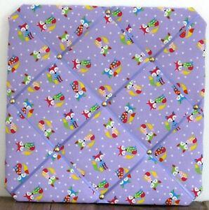 Handmade FREDDY FOX LILAC 30cm Fabric Notice Board  ***REDUCED TO CLEAR***