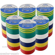 "3/4"" x 30' 36 Pack Bulk Lot Electrical Electricans Tape Multi Color CON3110MC x6"