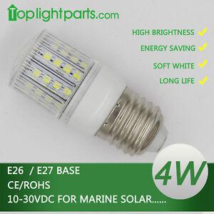 (2pcs) x Warm / Cool White 12V 24V 10-30V E27 E26 Marine Solar LED Light Bulb CE