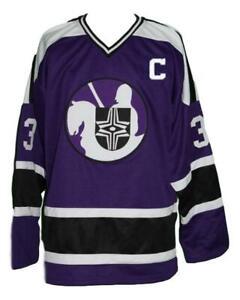 Any Name Number Cleveland Crusaders Retro Custom Hockey Jersey Shmyr Purple