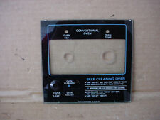 Hotpoint Oven Control Panel Crystal Glass Part # WB36X5610