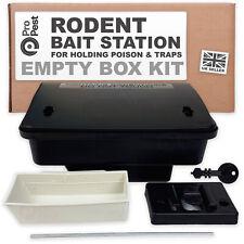 ProPest Tamper Resistant Rodent Bait Boxes for Rat & Mouse Poison (Empty)